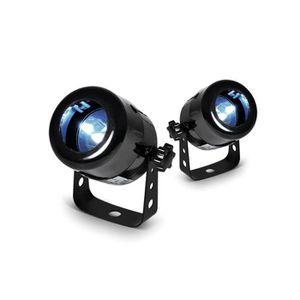 BOULE A FACETTES LOT de 2 Projecteurs à LED pour boule à facettes -