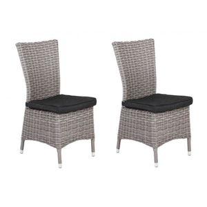 LOT DE 2 CHAISES FLORIDE EXT. HESPERIDE - Achat / Vente fauteuil ...