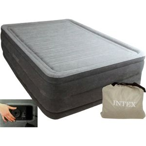 LIT GONFLABLE - AIRBED INTEX Lit gonflable 2 personnes Comfort plush High
