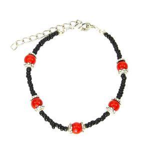BRACELET - GOURMETTE Bracelet charms et perle Bijou fantaisie ethnique 7635f5cbc833