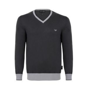 PULL EMPORIO ARMANI Pull Col V - Homme - Gris
