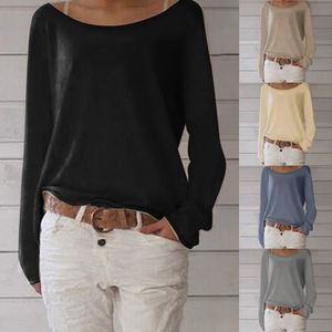 T-SHIRT Femme Casual T-Shirt Confortable Col Rond Manches
