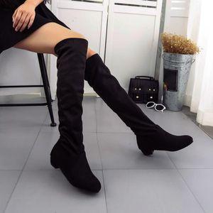 BOTTE femme hiver automne bottes plates chaussures haute