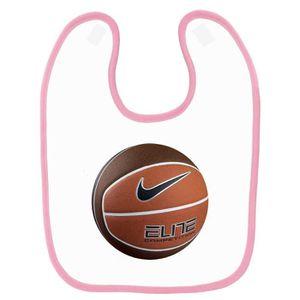 new style 9ffa5 76fff BAVOIR Bavoir bébé imprimé ballon de basket rose