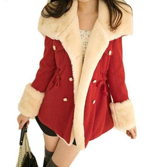 Veste Femme Chaud Outwear Mode Capuche Minetom À Hiver Manteaux Coat Casual Manteau dOqaxng0w