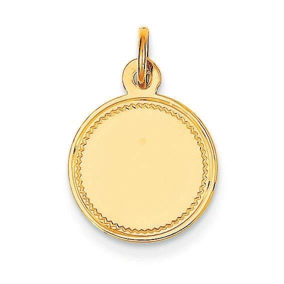 14 carats Calibre Rond Uni .027 Engraveable disque charme