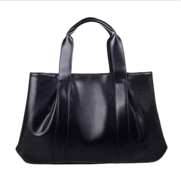 FMAILY®2017 1PCS PU sacs à main en cuir Sac à bandoulière / sac de messager (noir)