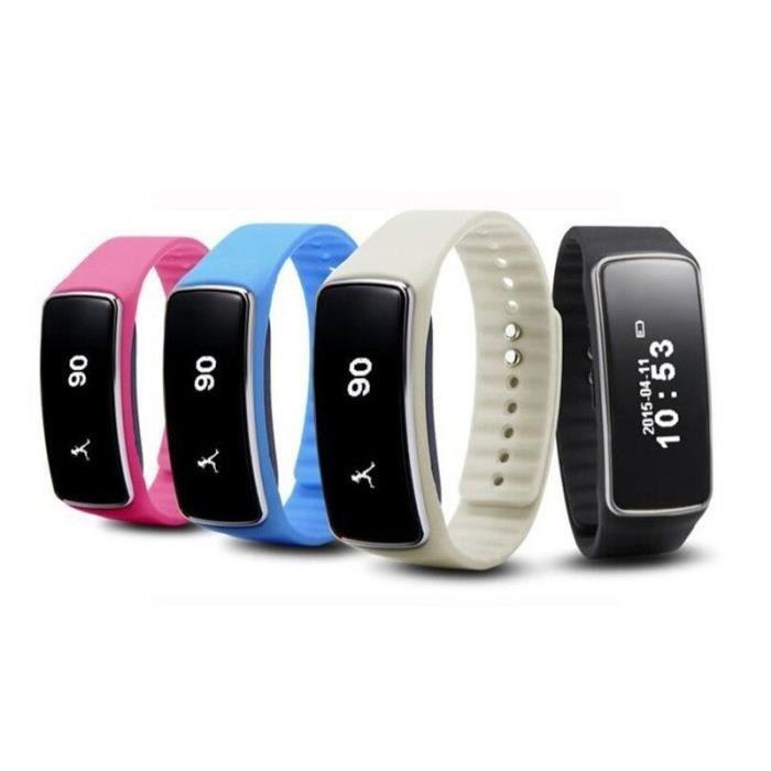 bracelet connect wristband v5s iphone 6 blanc achat vente montre connect e bracelet. Black Bedroom Furniture Sets. Home Design Ideas