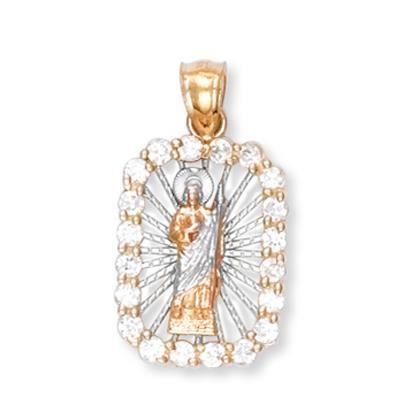Pendentif 10 ct 471/1000 Trois Couleurs dor Saint-Joseph