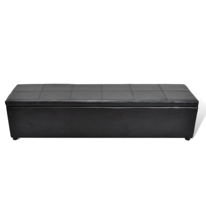 bea410f686c68b Banc banquette coffre de rangement noir taille large - Achat   Vente ...