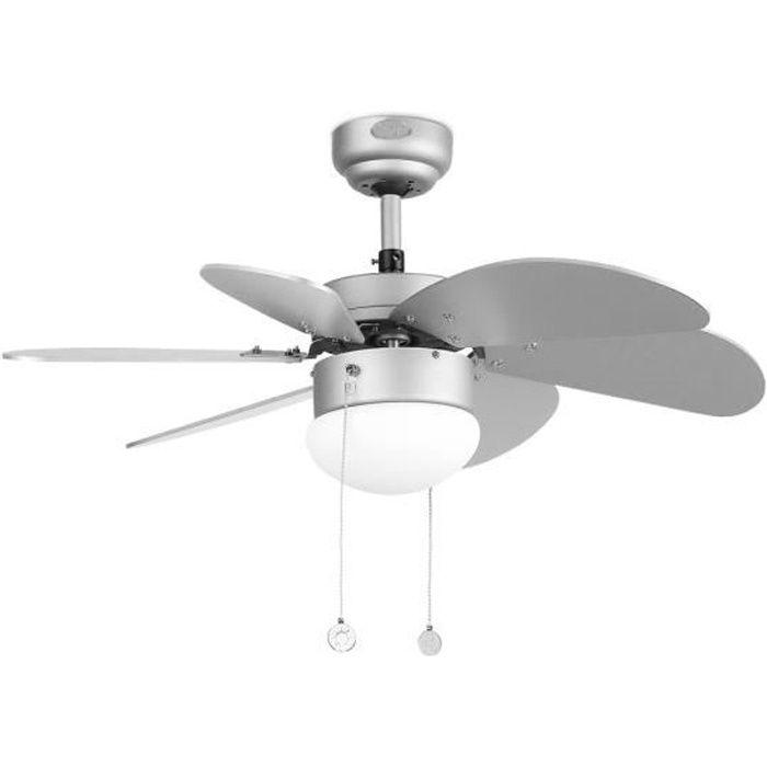 VENTILATEUR DE PLAFOND FARO Ventilateur de plafond Palao 81cm gris avec l