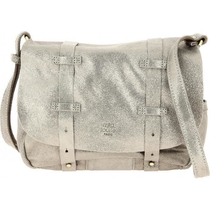 BESACE - SAC REPORTER mila louise maroquinerie sac bess spark - Gris Ant 7e6f2304656