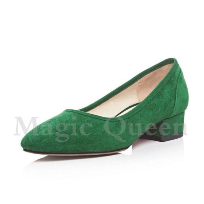 chaussure basse à talon bas à semelle en tendon...
