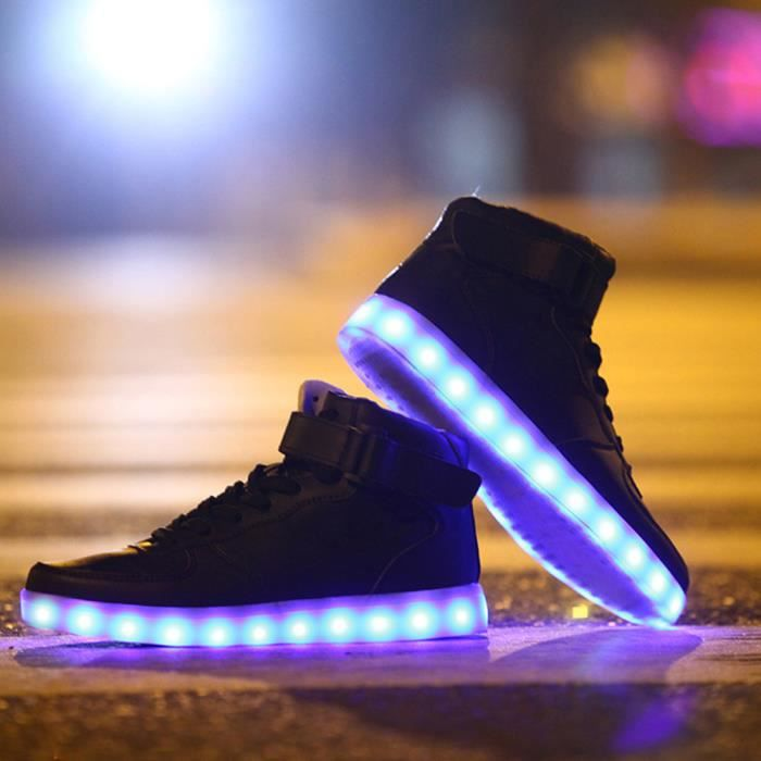sellmore ® Chaussures Montante Femme Homme LED ...