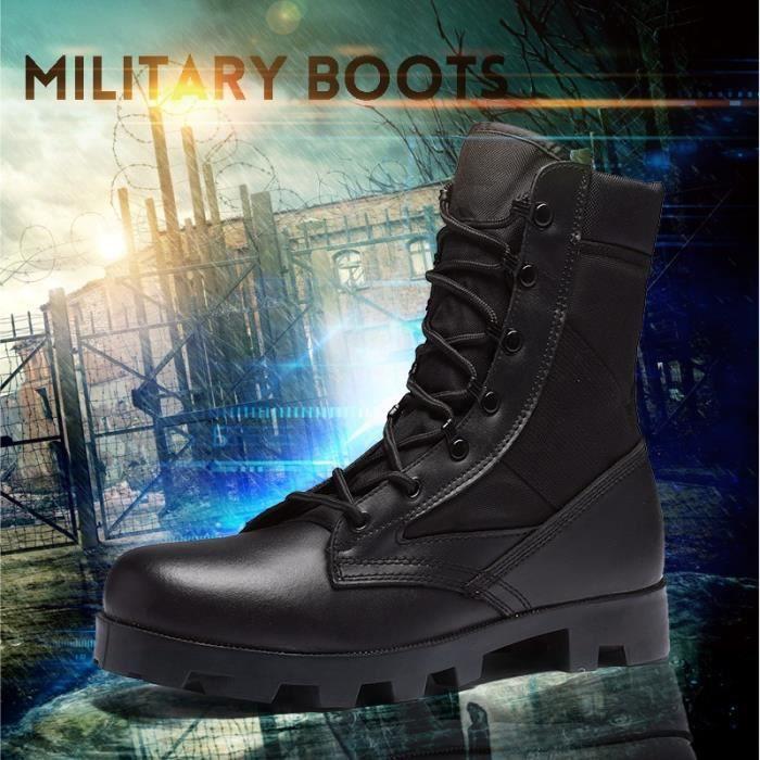 Bottes pour Hommenoir 7 Armée Commando Masculin Combat désert d'hiver en plein air Randonnée d'atterrissage Chaussures_5024