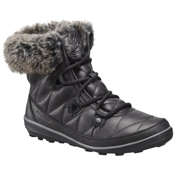 Columbia Heavenly Shorty Omni-heat Leather After Dark Snow Boot LU0HE Taille-41