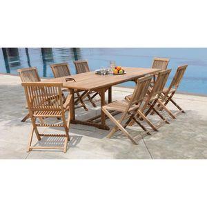 Tables et chaises de jardin Bois massif - Achat / Vente pas cher ...