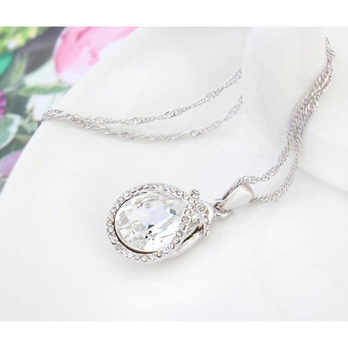 Womens Swarovski Crystal Pendant Necklace. Daily-party Wear Fashion Jewellery. BC56G