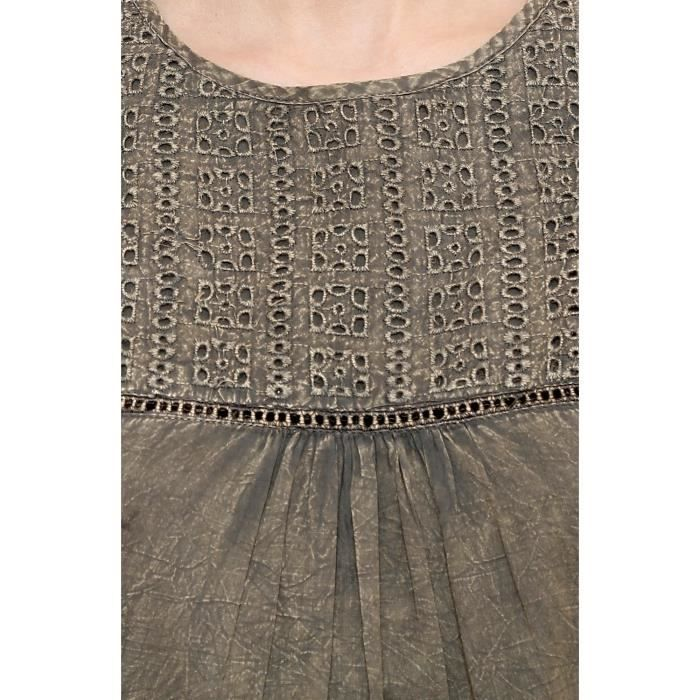 Womens Cotton Sleeveless Embroidery Dress For & Girls 1SLMC3 Taille-34