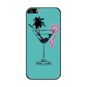 BIGBEN CONNECTED Coque Silicone Iphone 4 Cocktail Lime - Bleue