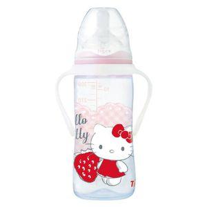 TIGEX Biberon Intuition 300ml Tétine Silicone +6mois avec Poignées Hello Kitty