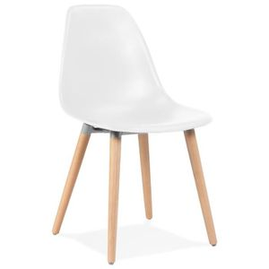 CHAISE HO - Chaise design scandinave blanche