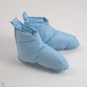 CHAUSSON - PANTOUFLE Chaussons duvet Homme bleu Pointure - L (45-48)