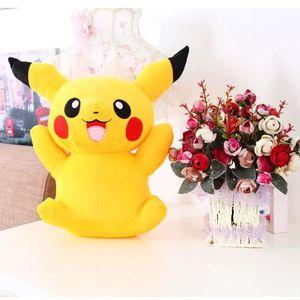 FMAILYPokemon Pikachu Les pantoufles de coton de dessin animé en peluche hiver maison chaleureuse pleine drague (taille: TU) (Noir) wwMeke3LR