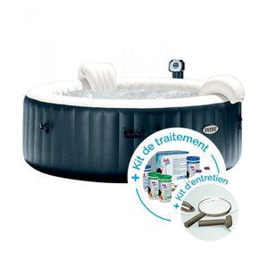 SPA COMPLET - KIT SPA Spa gonflable Intex PureSpa Plus Bulles 4 personne