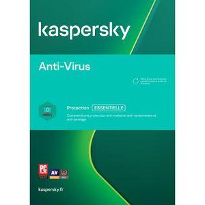 ANTIVIRUS À TELECHARGER Kaspersky Antivirus 2018 1 Poste - 3 Ans -