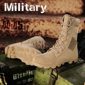 Bottes pour Hommemarron 9.5 Delta tactiques militaires en cuir désert Combat extérieur Armée Voyage Botas Homme Trekki_5055 Z3Uq7xFP24