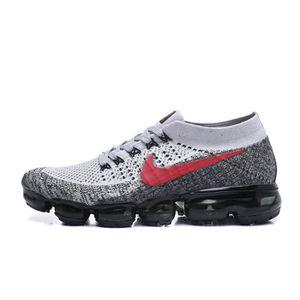 CHAUSSURES BASKET-BALL Nike Air VaporMax Flyknit Chaussure De Gris Rouge