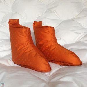 CHAUSSON - PANTOUFLE Chaussons duvet Homme jacquard orange Pointure - L