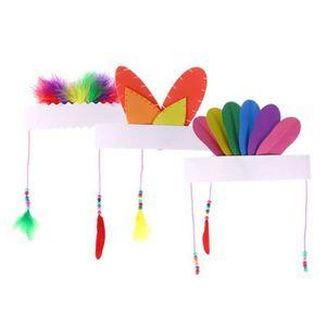 ETAI Coiffe de plume indienne décoration bricolage Head