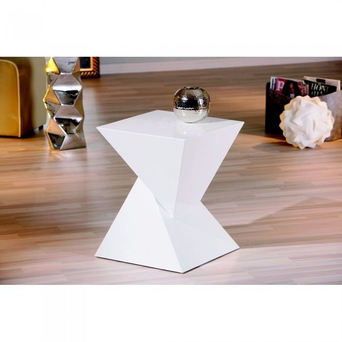 table d'appoint design sablier couleur blanc m… - achat / vente