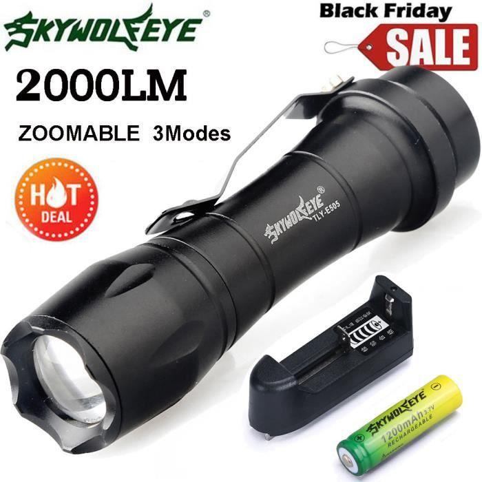 Zoom Q5 Mini Lampe Torche Led Focus Lumiere 14 500 Batterie