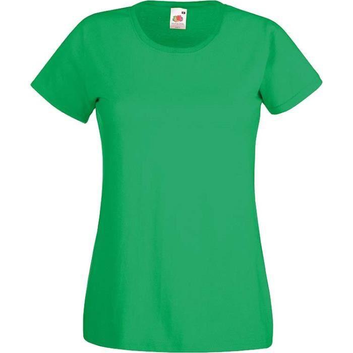 T-SHIRT T-shirt Vert Irlandais pour Femme.Manches Courtes.
