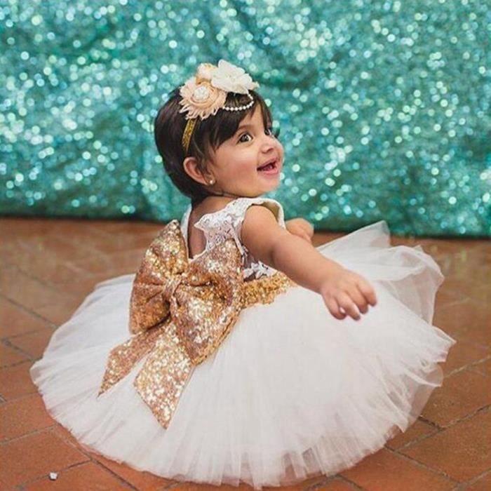Bébé Robe de soirées 2017 Hot Princesse Fille Pour Aniversaire Tutu de cérémonie Baptême
