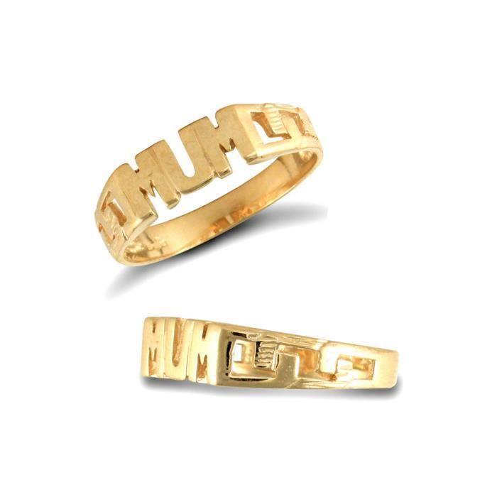 Jewelco Londres dames 9K solide lien de bordure en or jaune côtés anneau maman