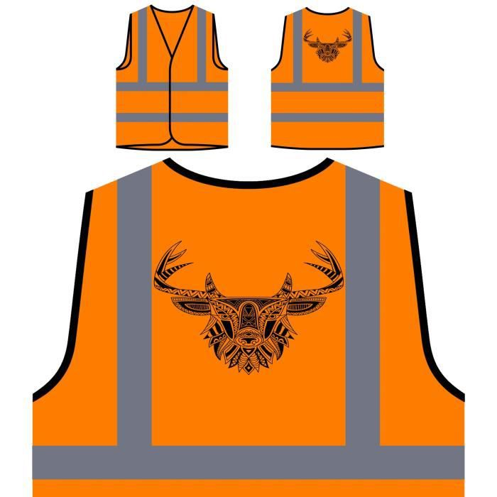Nouveauté En Orange Haute De Art À Visibilitédeer Personnalisée Personna Protection Et Veste Blanc Noir xWrodCeB