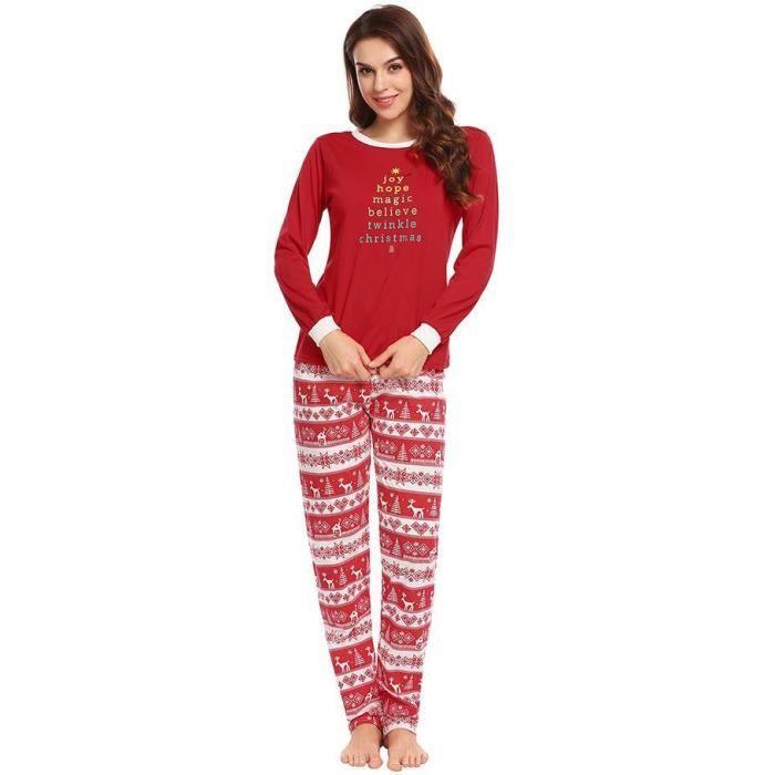 sélectionner pour officiel à bas prix trouver le travail Femmes ensemble de pyjamas à manches longues de Noël imprimé ...