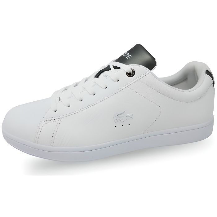 b2bed11de07 LACOSTE - Chaussure homme Lacoste Carnaby Evo 417 BLANCHE - (blanc ...