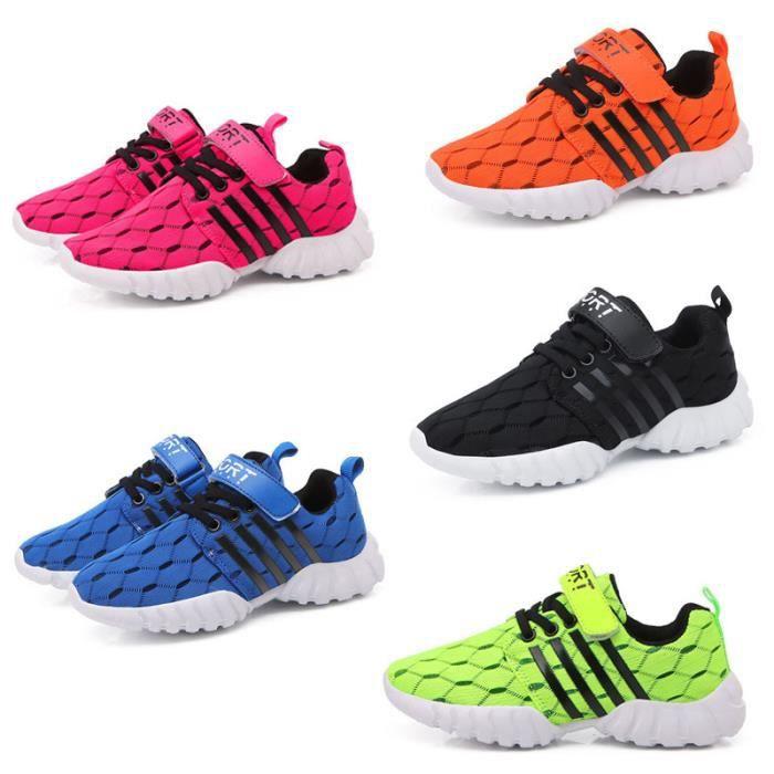 Chaussures de course pour enfants Chaussures de sport décontractées Baskets respirantes fille et garçon