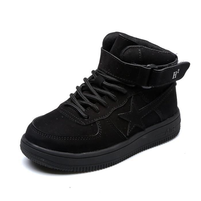 Basket Les enfants unisex tombent et les chaussures de sport décontractées en cuir d'hiver NyGP6Dam2C