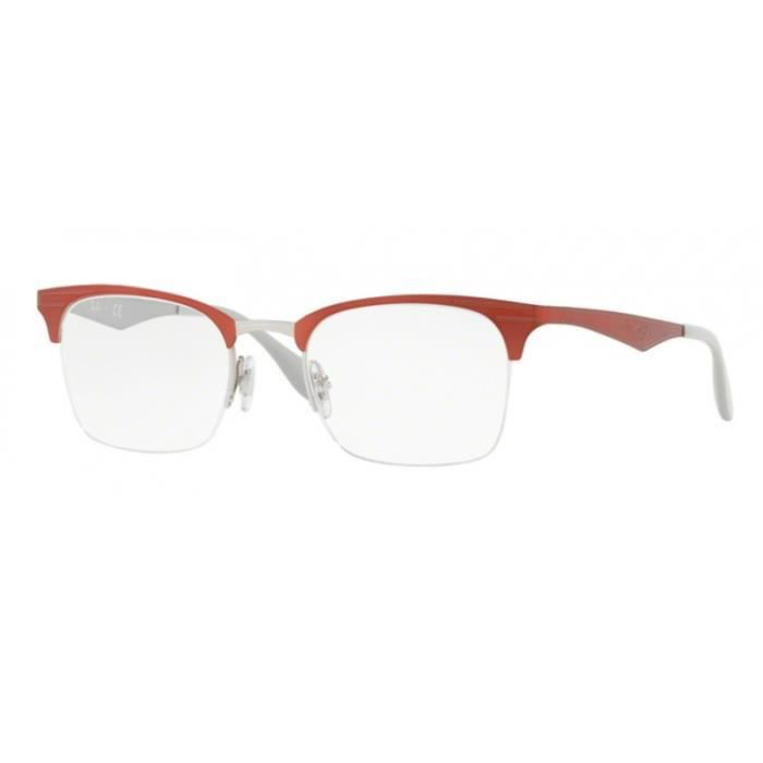 8a89dd8a7e Lunettes de vue Ray-Ban RX6360 2921 Silver Top Red 51-20 Rouge ...