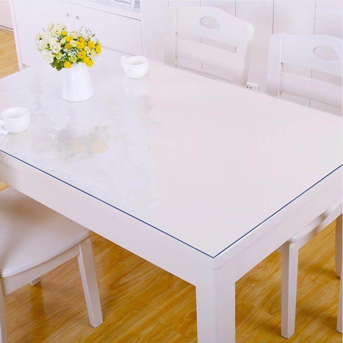 TEMPSA Transparent Nappe de Table en PVC Décoration Maison Pour ...