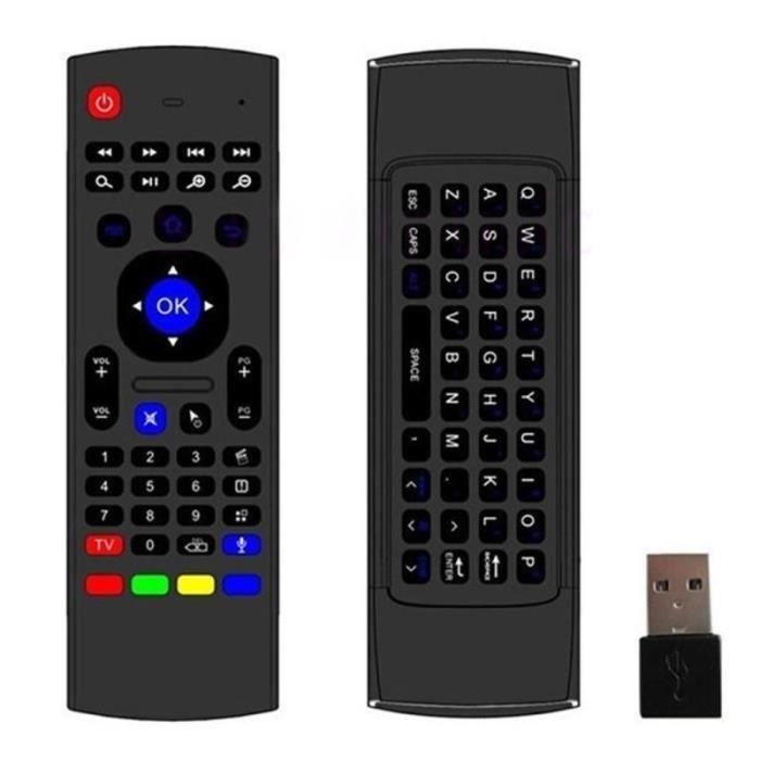 CLAVIER D'ORDINATEUR Accessoires Gadgets MINI PC Air Mouse sans fil 2.4