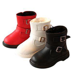 D'hiver Bottes Cuir Enfants Nouveaux Mode Bottines Fille LLT-XZ104Rouge23 TqNxIMsk