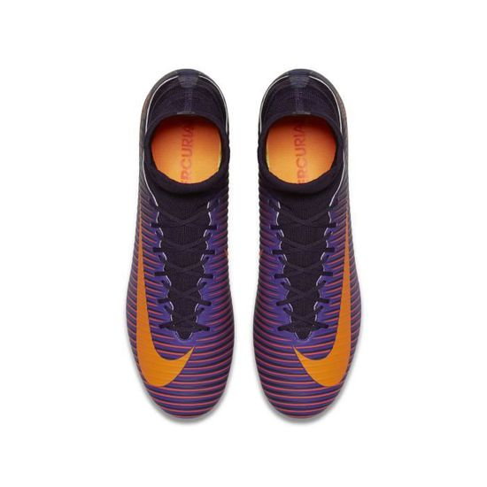 more photos 6cd81 3449a Chaussures football Nike Mercurial Veloce III FG Violet Orange - Prix pas  cher - Cdiscount
