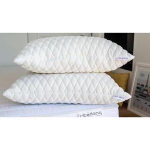 OREILLER Lot de 2 oreillers à mémoire de forme 60x60 Memo S